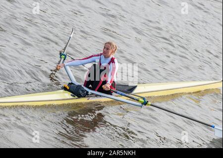 London, Großbritannien, 2008 Scullers Head of the River Race, fuhr über den Championship Course, Mortlake nach Putney, an der Themse. Samstag, 12.06.2008. [Obligatorische Gutschrift: © Peter Spurrier/Intersport Images] - Stockfoto