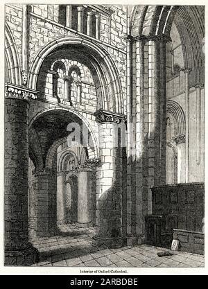 Blick in die Kathedrale der Christ Church, Oxford. Datum: Ca. - Stockfoto