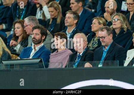 "Rod Laver beim Match ""Australian Open Tennis Championship Day 9"" 2020 im Melbourne Park Tennis Center, Melbourne, Australien. Januar 2020. ( Credit: Andy Cheung/ArcK Images/arckimages.com/UK Tennis Magazine/International Sports Fotos) Credit: Roger Parker/Alamy Live News - Stockfoto"