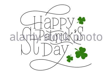 Handgezeichneten Schriftzug für St. Patrick's Day. Gezeichnet Kunst anmelden. - Stockfoto