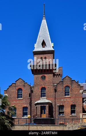 Sydney, NSW, Australien - 30. Oktober 2017: ASNC-Gebäude in The Rocks, ehemaliges Lager- und Bürogebäude - Stockfoto