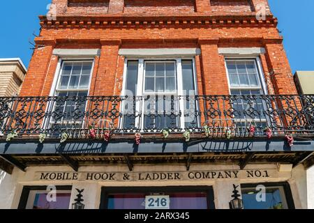 Mobile, Alabama historisches Feuerwehrhaus - Stockfoto