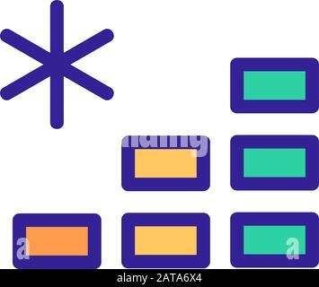 Die Reduzierung der Temperatur von das Symbol Vektor. Isolierte Kontur symbol Abbildung - Stockfoto