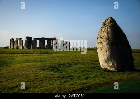 Stonehenge, Salisbury Plain, Wiltshire, England, Großbritannien