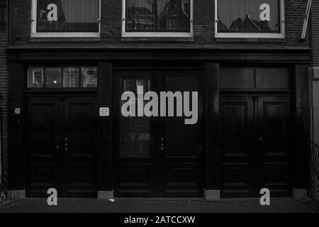 Amsterdam 26/1/2020 - Eingangstüren zum Anne-Frank-Haus - Stockfoto
