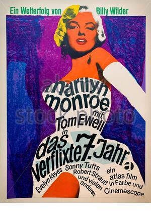 The Seven Year Itch ist ein US-amerikanischer romantischer Comedy-Film aus dem Jahr 1955, der auf einem gleichnamigen Dreiakt-Stück von George Axelrod basiert. Der Film wurde mitgeschrieben - Stockfoto