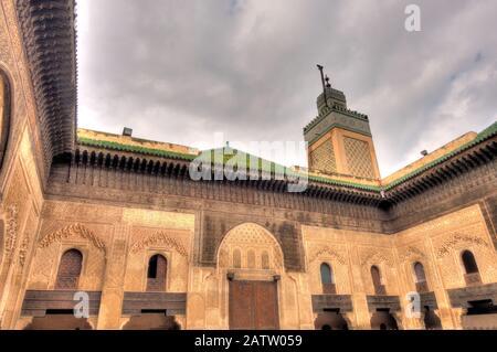 Madrasah Bou Inania, Fez, Marokko Stockfoto