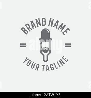 Vape Shop. Handgeschriebene moderne Schriftzüge isoliert auf weißem Hintergrund. Symbol, Logo, Emblem für Shop, Vaping Bar. Vektor. - Stockfoto