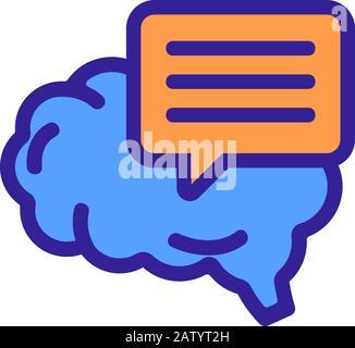 Bewusstseinssymbol-Vektor. Isolierte Darstellung des Kontursymbols - Stockfoto