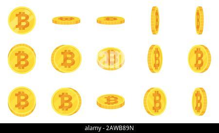 Sprite Blech aus Goldbitcoin - Stockfoto