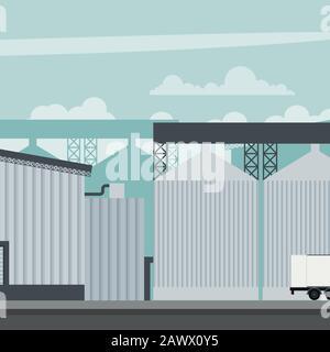 Entwurf einer Fabrik für die Mühle eines Industrie-Lebensmittelunternehmens