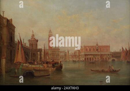 David Roberts (1796-1864). Englischer Romantischer Maler. Venedig. Der Canal Grande, Im Jahre 1848. Museum der Schönen Künste A Coruña, Galicien, Spanien. - Stockfoto