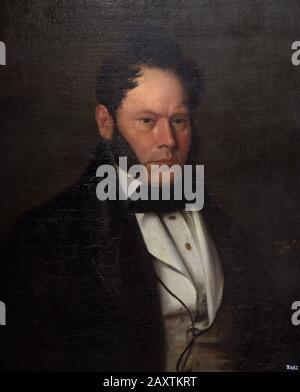 Antonio Maria Esquivel (1806-1857). Spanischer Maler. Porträt von Herrn Vicente Alsina, 1834. Museum der Schönen Künste A Coruña, Galicien, Spanien. - Stockfoto