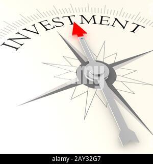 Investitionskompass - Stockfoto