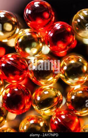 Streuung der Kapseln und Tabletten