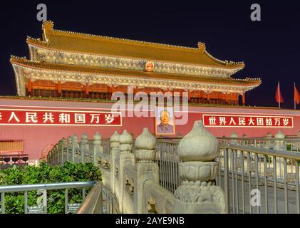 Mao TSE Tung Tianananmen Tor im Verbotenen Stadtpalast - Peking China