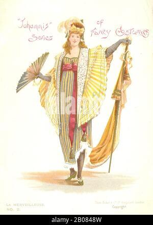 """La Merveilleuse Nr. 2 im Set der Serie """"Johnis"""" von Fancy Costumes eine verschenken Karte Werbung """"Johann"""" Schmackhaftes Wasser im Jahr 1884 - Stockfoto"""