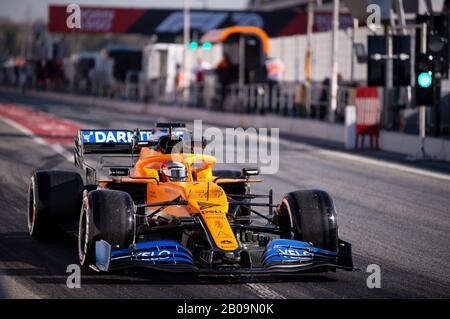 Februar 2020; Circuit De Barcelona, Barcelona, Katalonien, Spanien; Formel-1-Vorsaisontest; Carlos Sainz fuhr das Mclaren Formel-1-Team MCL35 während der Formel-1-Testtage auf dem Circuit de Catalunya Credit auf Kurs: Pablo Guillen/Alamy Live News - Stockfoto