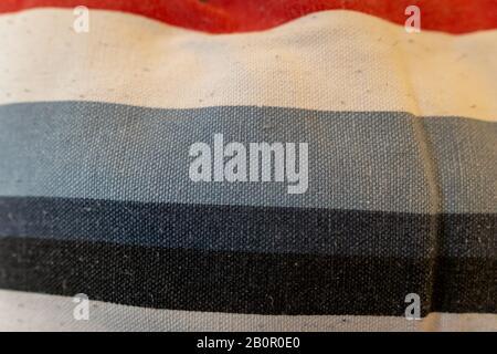 Polstertextur, blau weiß schwarz rot - Stockfoto