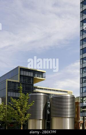 Moderne Architektur, Fassade, Valentinskamp, Stadt, hamburg, deutschland, - Stockfoto