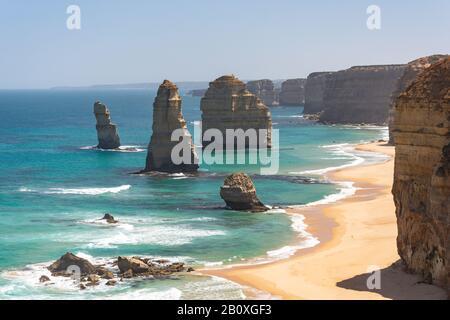 The Twelve Apostles, Port Campbell National Park, Western District, Victoria, Australien