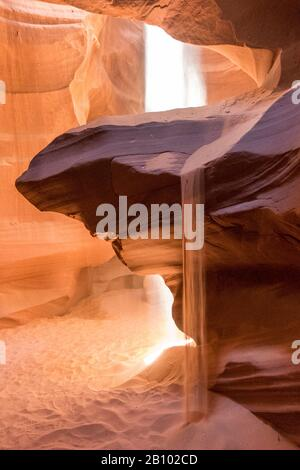 Sandsteinwände, Upper Antelope Canyon, Page, Arizona, USA - Stockfoto