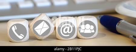 Support Hotline Kontakt Stockfoto