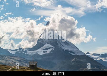 Riffelbergkapelle, Heiliger Bruder Klaus, Matterhorn, Zermatt, Schweiz - Stockfoto