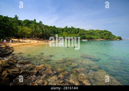 Sri Lanka, Galle, Unawatuna, Jungle Beach - Stockfoto