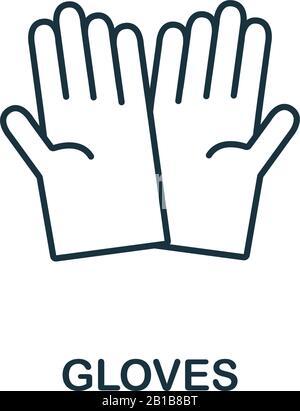 Handschuhsymbol aus Reinigungssammlung. Symbol für einfache Elementhandschuhe für Vorlagen, Webdesign und Infografiken - Stockfoto