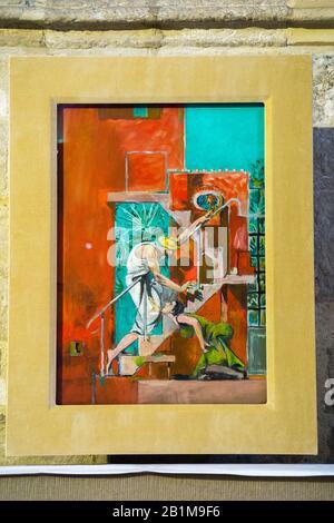 """Gemälde an der Wand der Chichester-Kathedrale in der Maria-Magdalena-Kapelle; """"Noli Me Tangere"""" von Graham Sutherland gemalt. Noli Me Tangere (Halte mich nicht) wurde 1961 gemalt. GROSSBRITANNIEN (114) - Stockfoto"""