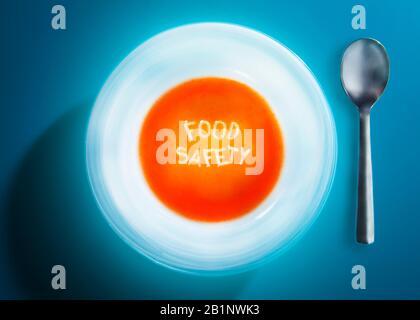 Alphabet Suppe Lebensmittelsicherheit - Stockfoto