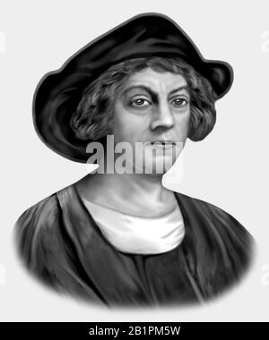 Christopher Columbus 1451-1506 Italienischer Explorer Navigator - Stockfoto
