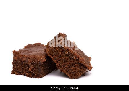 Zwei Chocolate Brownie Bars - Stockfoto