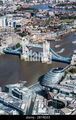 Der Blick vom Shard über London. - Stockfoto