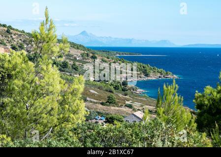 Wandern Vidova Gora auf der Insel Brac, Kroatien - Stockfoto