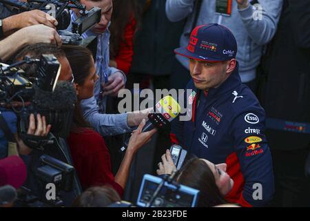 Max verstappen (ned) Red Bull Racing rb15 während Der Tests Vor der Saison 2020, Barcelona (Spanien), Italien, 21. Feb 2020, Motors Formel 1 Championship