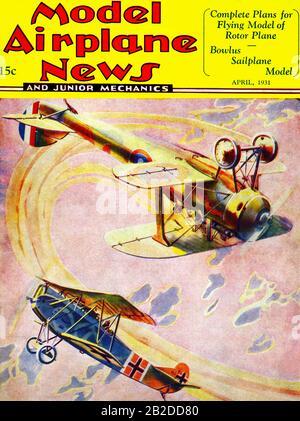 Dogfight zwischen einem Nazi-British-Biplane - Stockfoto