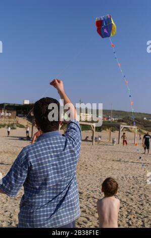 Drachenfliegen am Strand