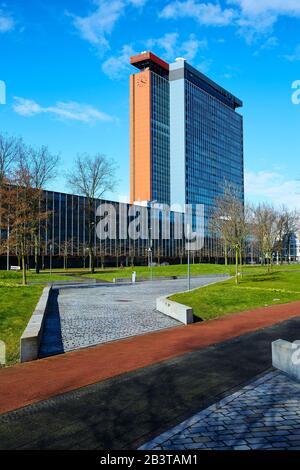 Die TU facultiet EWI, Teil der Technischen Hochschule Delft, Architekt Van Bruggen, Sterkenburg, Drexhage und Bodon - Stockfoto