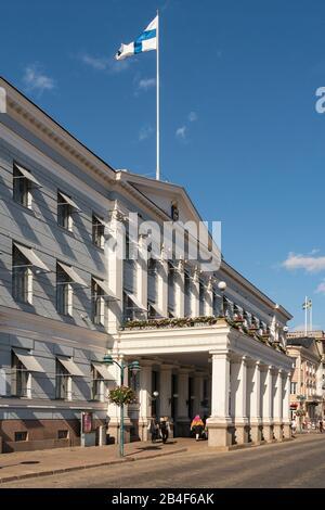 Helsinki, Altstadt, Präsidentenpalast, ehemaliger Zarenpalast - Stockfoto