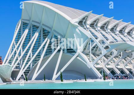 Principe Felipe Wissenschaftsmuseum, Stadt der Künste und Wissenschaften, Valencia, Spanien, Europa - Stockfoto