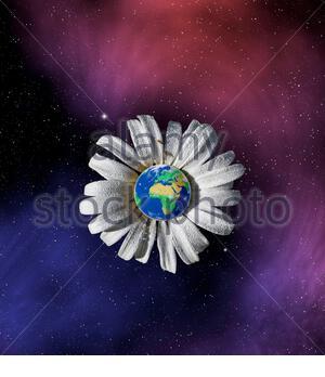 Konzeptdarstellung der Gaia-Hypothese von James Lovelock. Erde als riesige, sich selbst regulierende Lebensform des Organismus. - Stockfoto