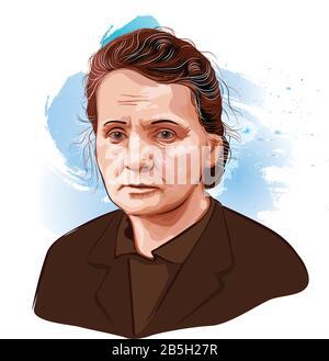 Marie Curie - 1934 Französisch-Polnischer Physiker, Nobelpreisträger für Physik und Nobelpreis für Chemie, - Stockfoto