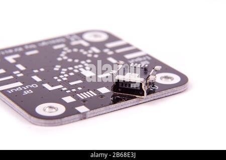 Mini-USB-Anschluss für SMD-Montage für hochintegre Elektronikgeräte - Stockfoto