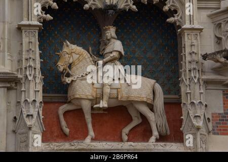 Louis XII auf einem Pferd, Chateau Royal de Blois - Stockfoto