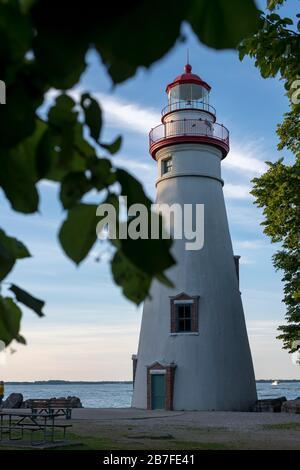 Marblehead Leuchtturm am südlichen Ufer des Lake Erie - Stockfoto