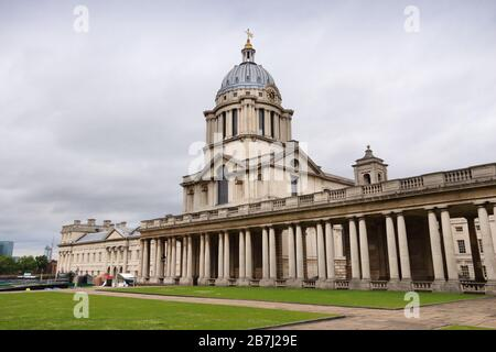 Old Royal Naval College in Greenwich, London, UK. - Stockfoto