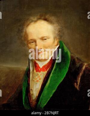 Porträt von Dominique Vivant, Baron Denon (1747-1825), ca. 1812. Gefunden in der Sammlung von Musée du Louvre, Paris. - Stockfoto