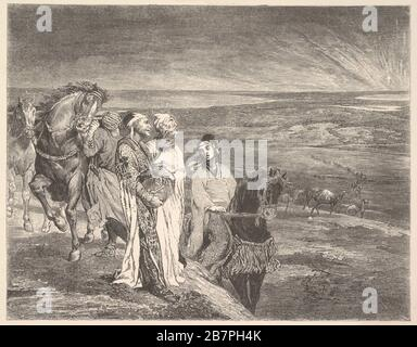 Die Weisen aus dem Osten, das Jahr 1868. - Stockfoto